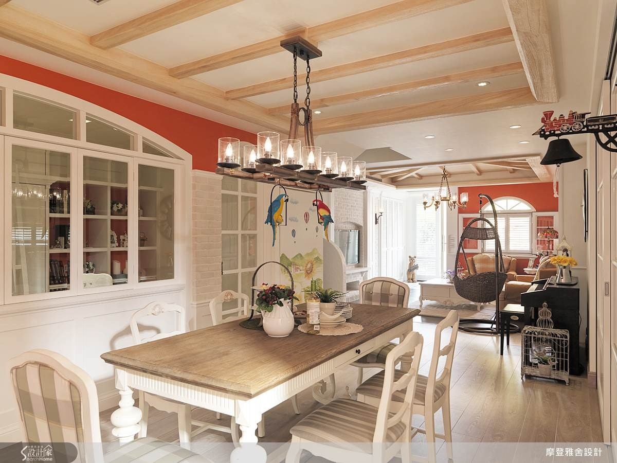 80坪中古屋(5~15年)_鄉村風餐廳案例圖片_摩登雅舍室內設計_摩登雅舍_36之13