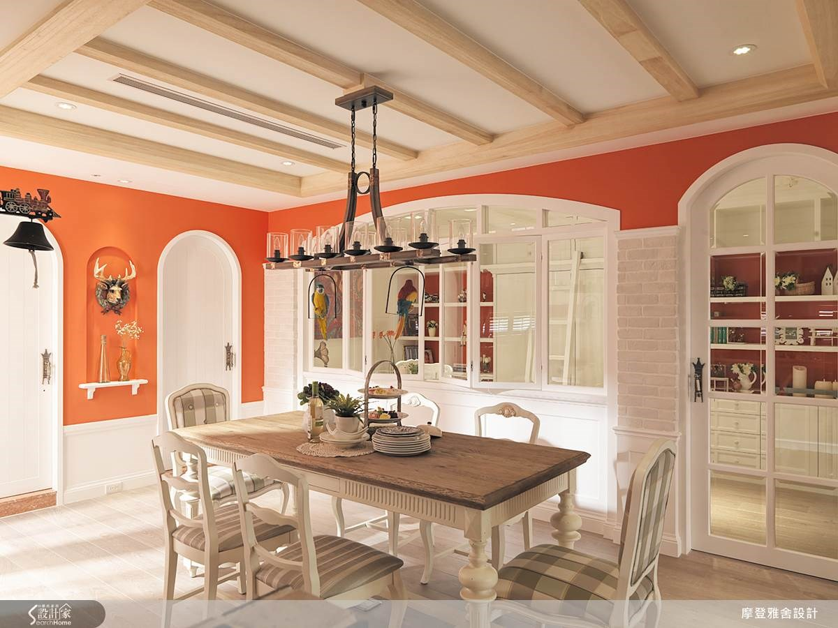 80坪中古屋(5~15年)_鄉村風餐廳案例圖片_摩登雅舍室內設計_摩登雅舍_36之11