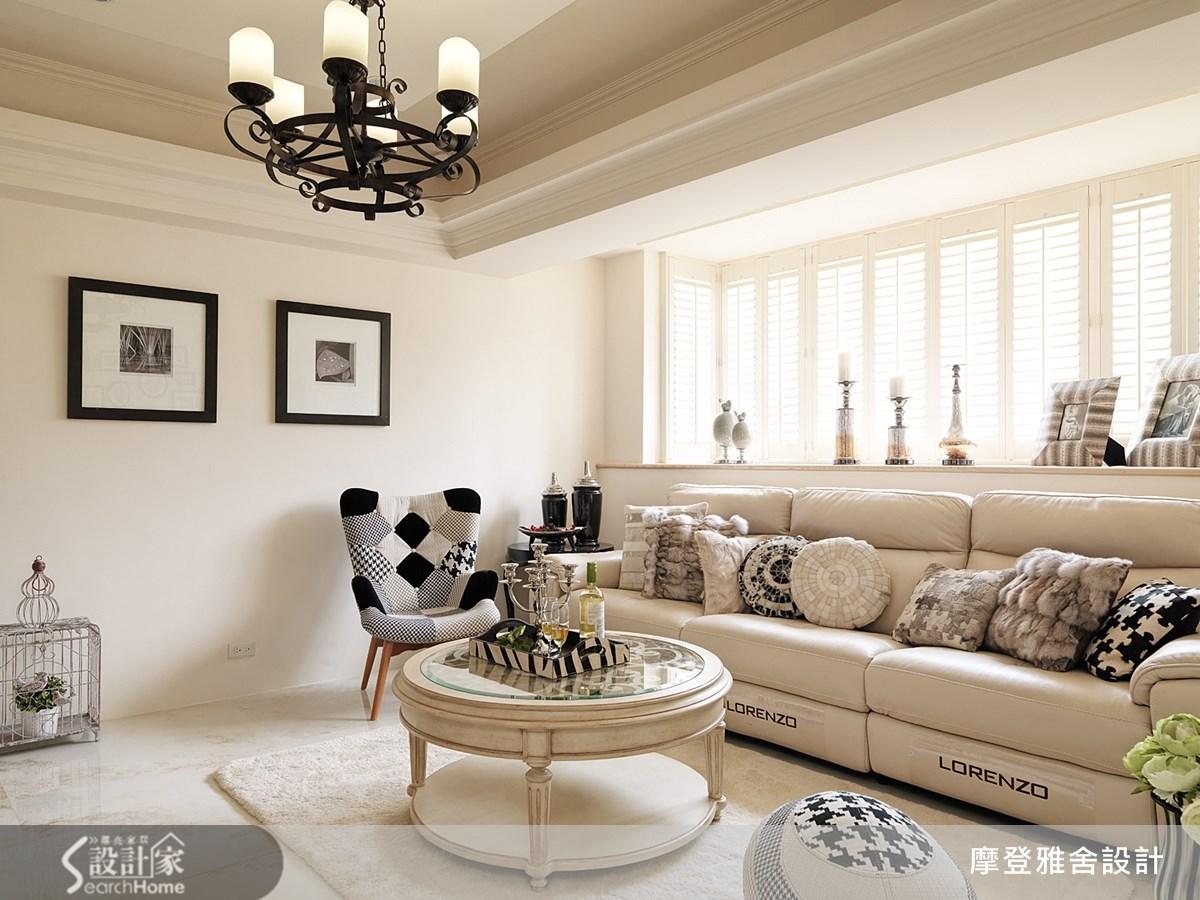 35坪老屋(16~30年)_美式風客廳案例圖片_摩登雅舍室內設計_摩登雅舍_37之3