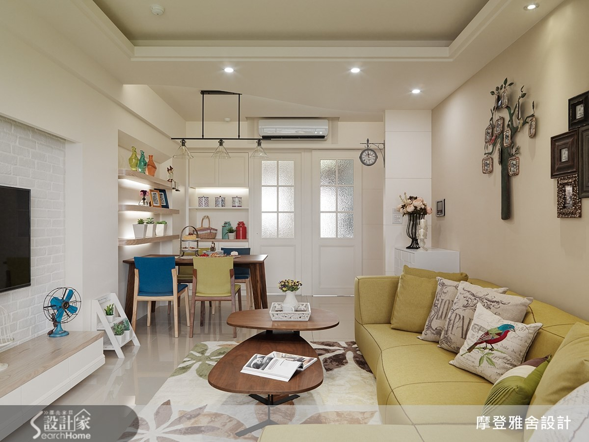 27坪新成屋(5年以下)_鄉村風客廳案例圖片_摩登雅舍室內設計_摩登雅舍_38之2