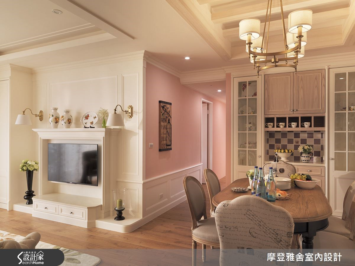 40坪新成屋(5年以下)_美式風餐廳案例圖片_摩登雅舍室內設計_摩登雅舍_42之1