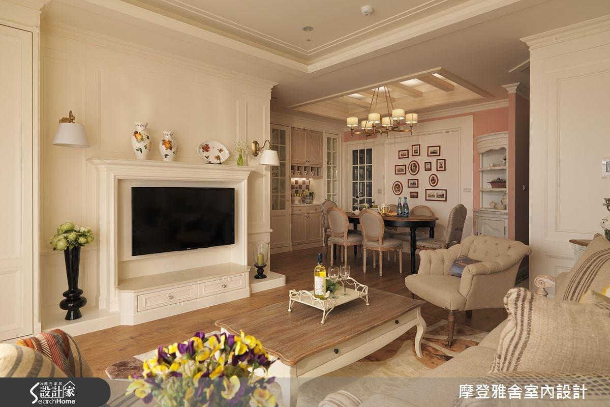 40坪新成屋(5年以下)_美式風客廳案例圖片_摩登雅舍室內設計_摩登雅舍_42之3