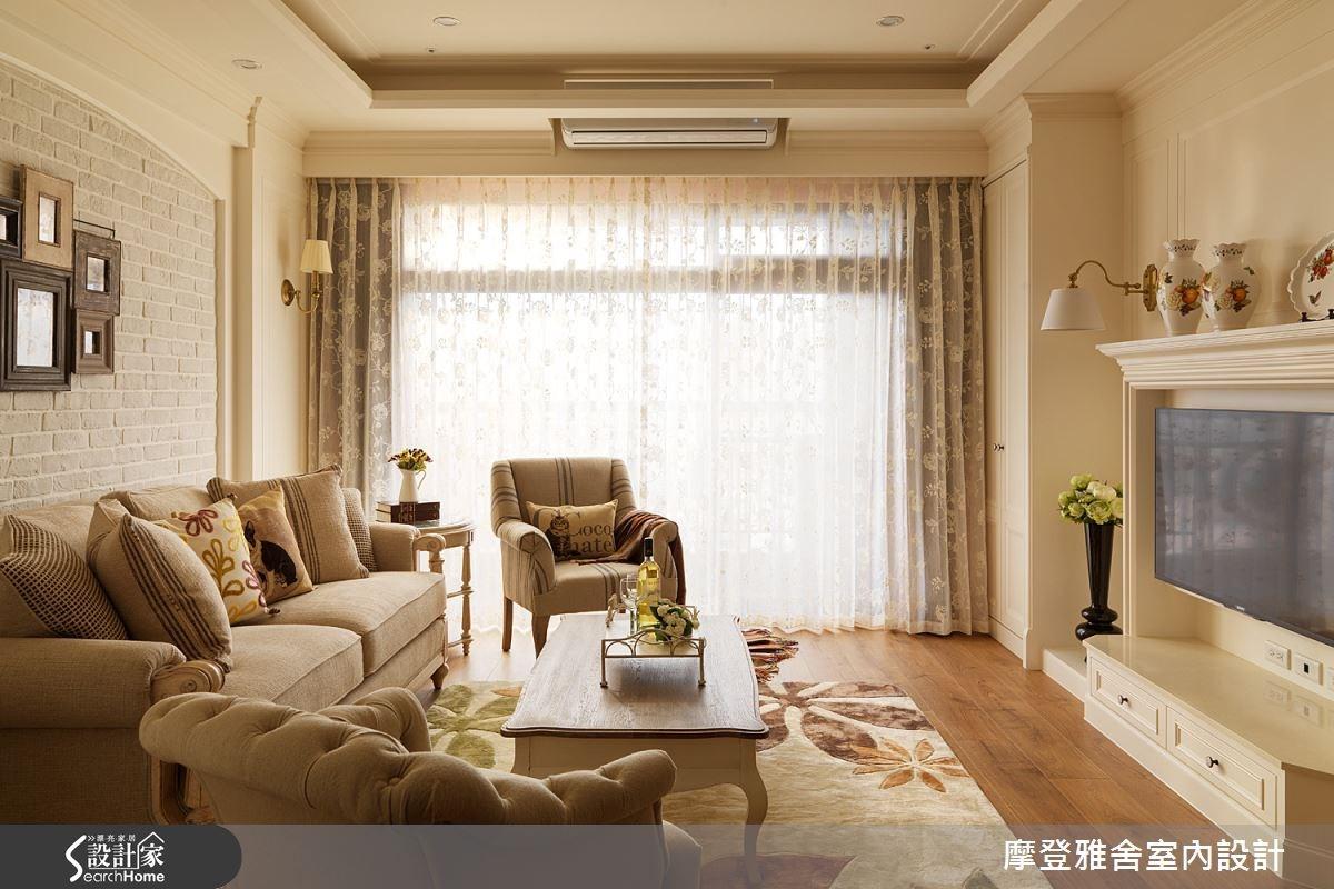 40坪新成屋(5年以下)_美式風客廳案例圖片_摩登雅舍室內設計_摩登雅舍_42之4