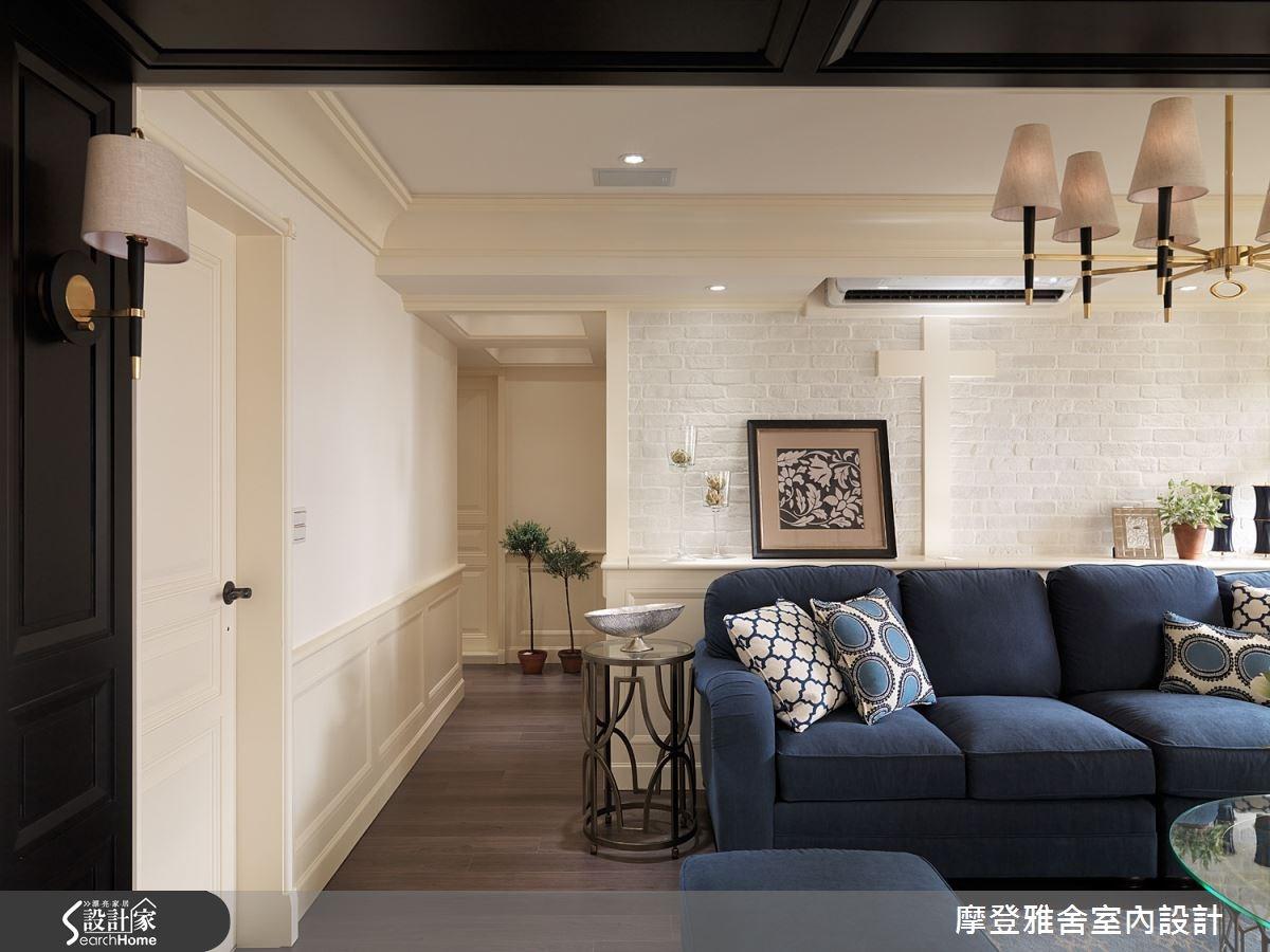 50坪老屋(16~30年)_美式風客廳案例圖片_摩登雅舍室內設計_摩登雅舍_47之2