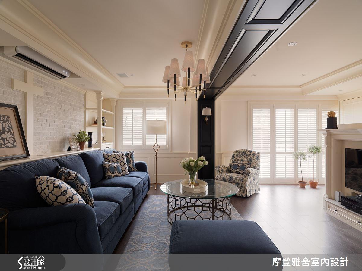 50坪老屋(16~30年)_美式風客廳案例圖片_摩登雅舍室內設計_摩登雅舍_47之7
