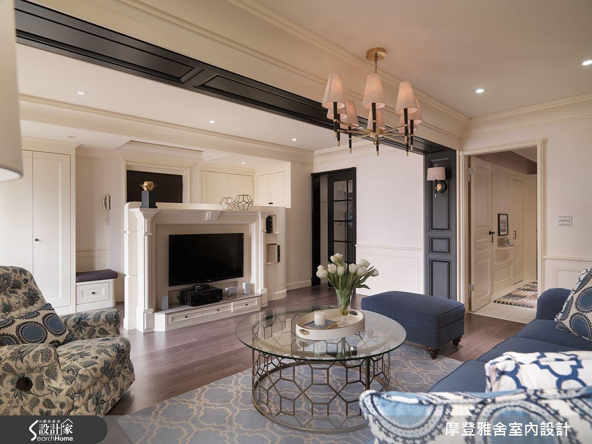 50坪老屋(16~30年)_美式風客廳案例圖片_摩登雅舍室內設計_摩登雅舍_47之8