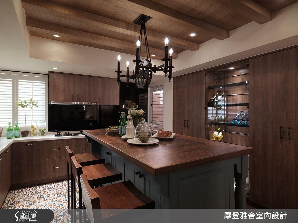 50坪老屋(16~30年)_美式風餐廳案例圖片_摩登雅舍室內設計_摩登雅舍_47之9