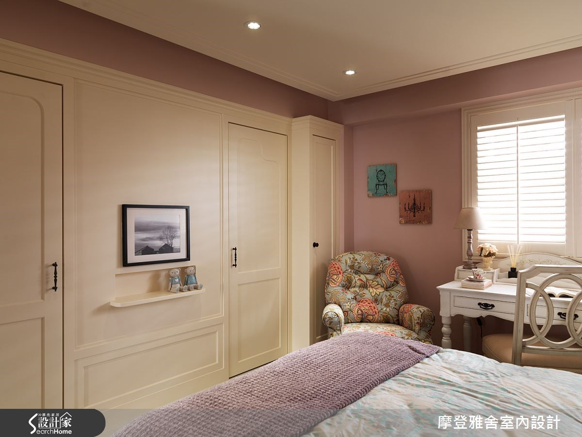 50坪老屋(16~30年)_美式風臥室案例圖片_摩登雅舍室內設計_摩登雅舍_47之14