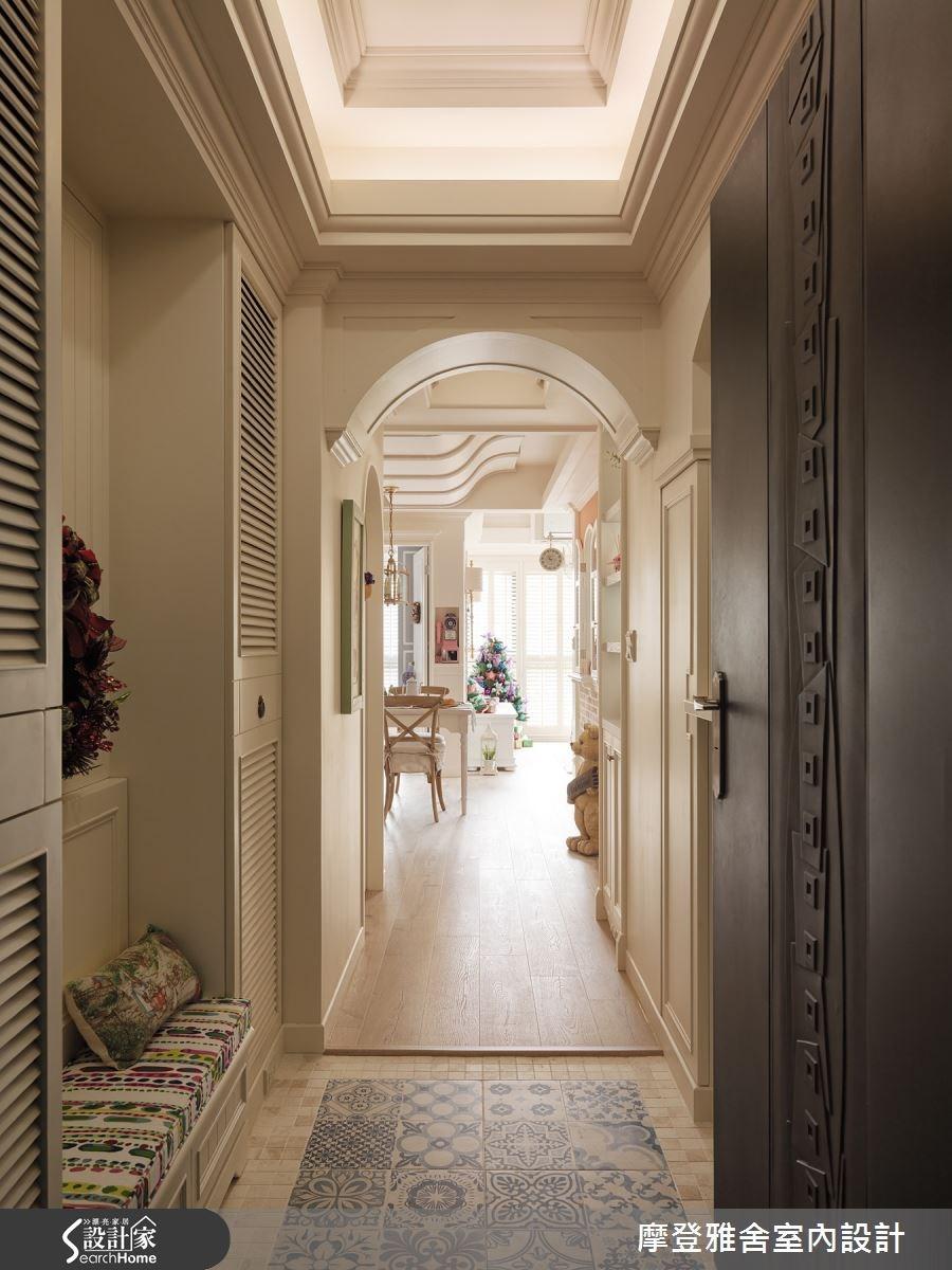 24坪新成屋(5年以下)_鄉村風走廊案例圖片_摩登雅舍室內設計_摩登雅舍_49之2
