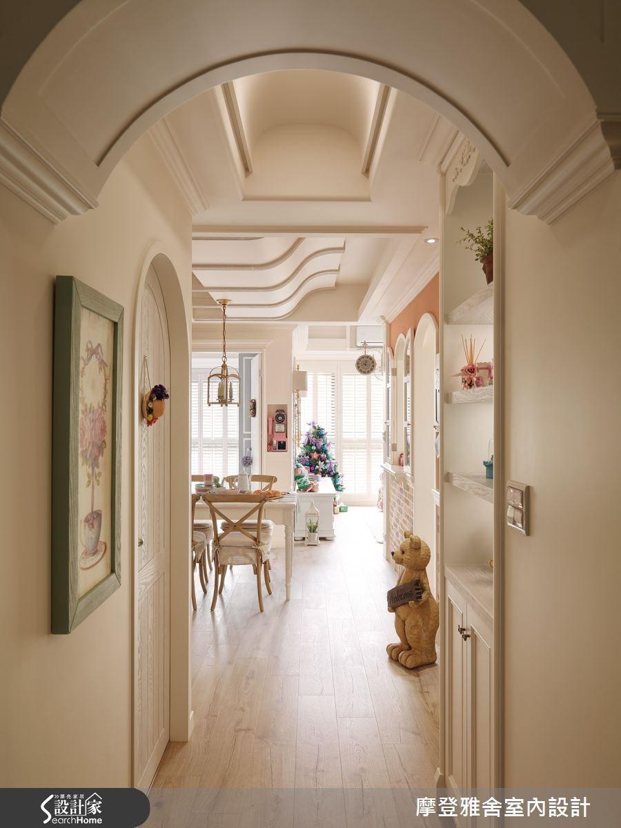 24坪新成屋(5年以下)_鄉村風走廊案例圖片_摩登雅舍室內設計_摩登雅舍_49之3