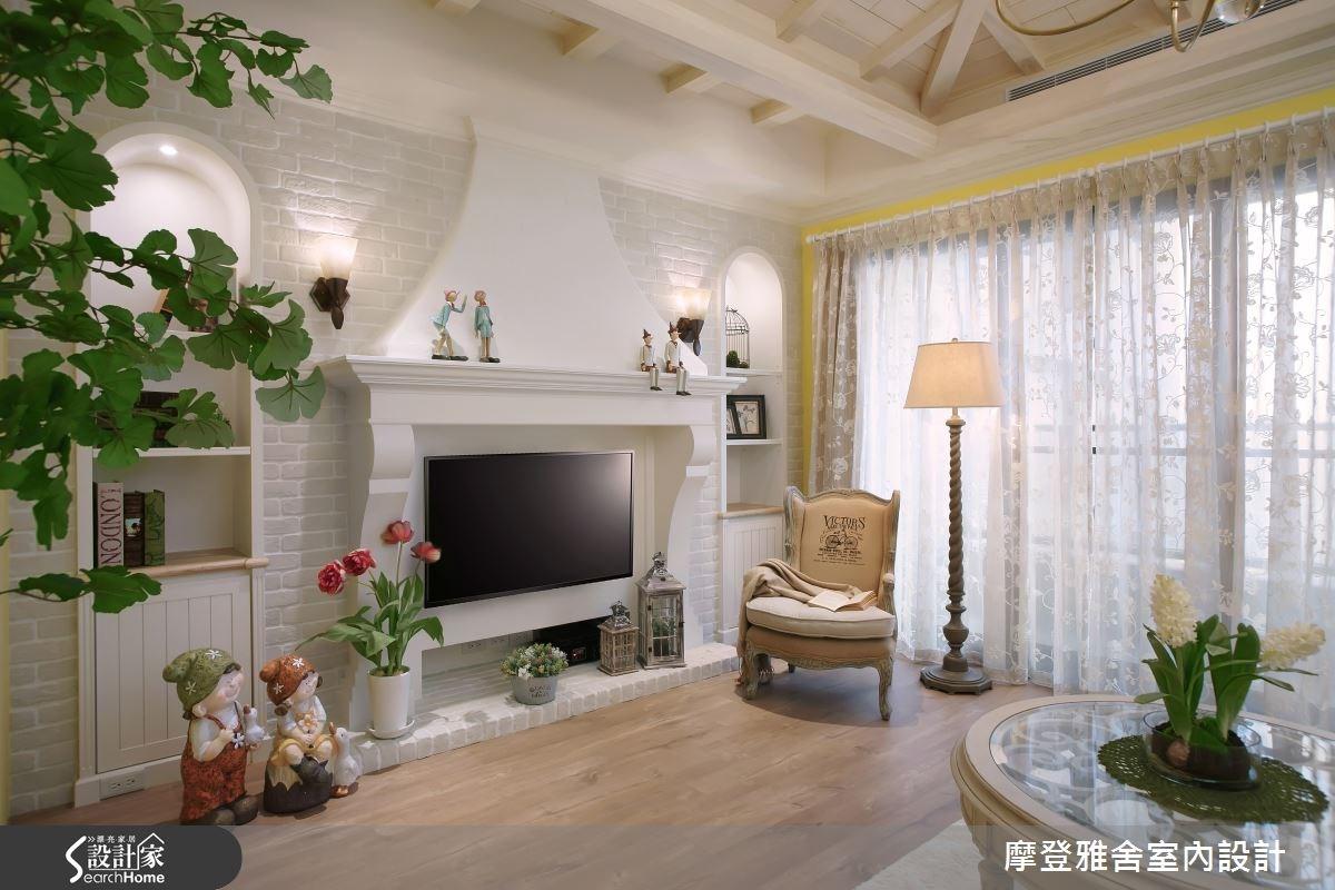42坪新成屋(5年以下)_鄉村風客廳案例圖片_摩登雅舍室內設計_摩登雅舍_50之3