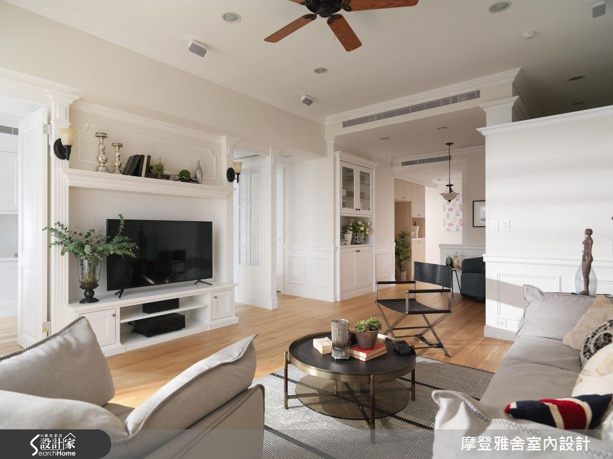 35坪新成屋(5年以下)_美式風客廳案例圖片_摩登雅舍室內設計_摩登雅舍_55之4
