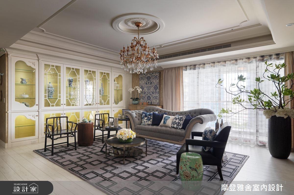 80坪新成屋(5年以下)_混搭風客廳案例圖片_摩登雅舍室內設計_摩登雅舍_56之3