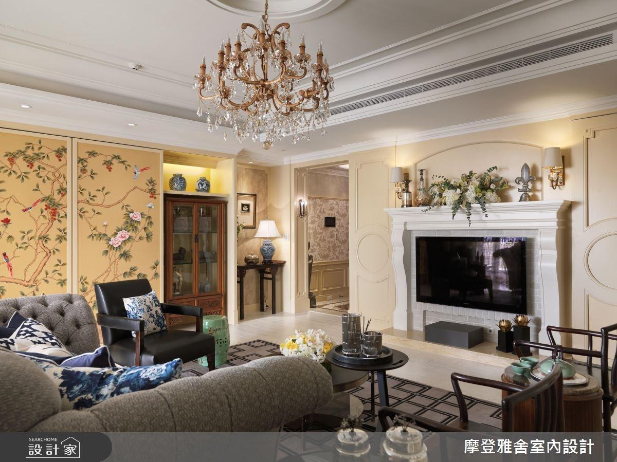 80坪新成屋(5年以下)_混搭風客廳案例圖片_摩登雅舍室內設計_摩登雅舍_56之8