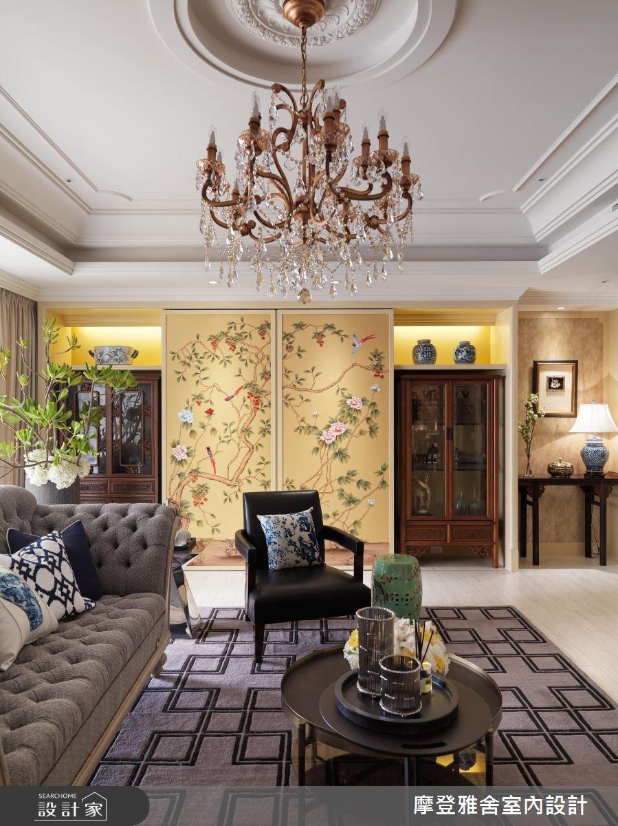 80坪新成屋(5年以下)_混搭風客廳案例圖片_摩登雅舍室內設計_摩登雅舍_56之9