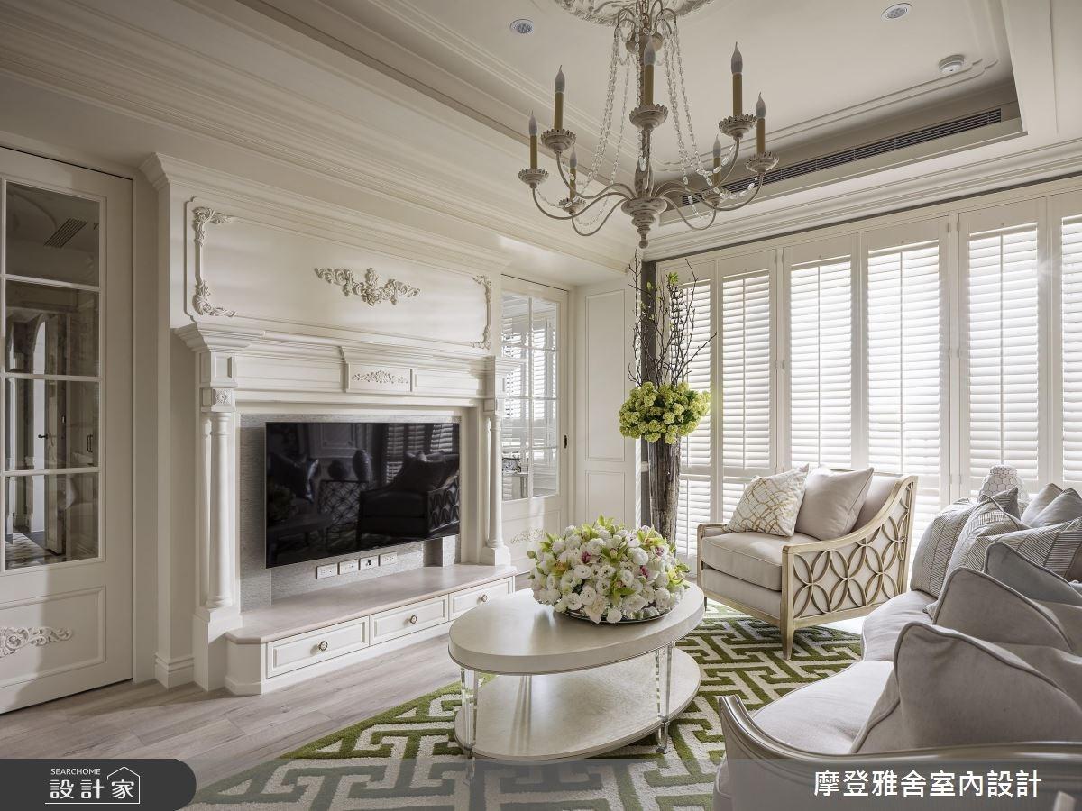 28坪新成屋(5年以下)_新古典客廳案例圖片_摩登雅舍室內設計_摩登雅舍_68之3