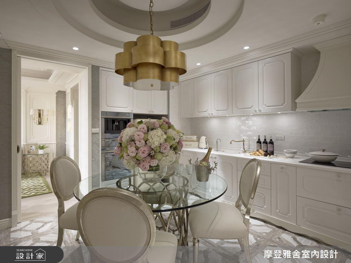 28坪新成屋(5年以下)_新古典餐廳廚房案例圖片_摩登雅舍室內設計_摩登雅舍_68之5