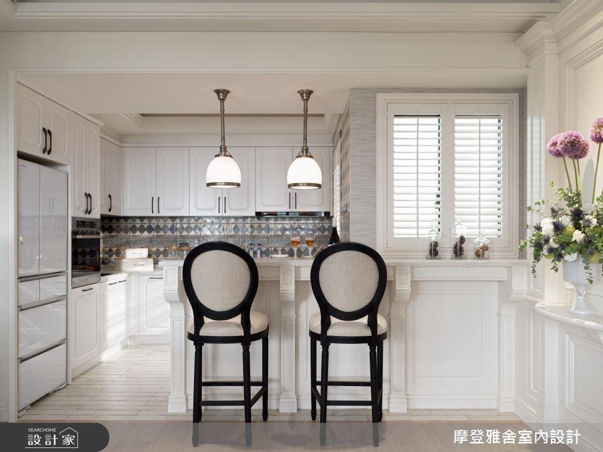 38坪新成屋(5年以下)_美式風廚房吧檯案例圖片_摩登雅舍室內設計_摩登雅舍_69之2