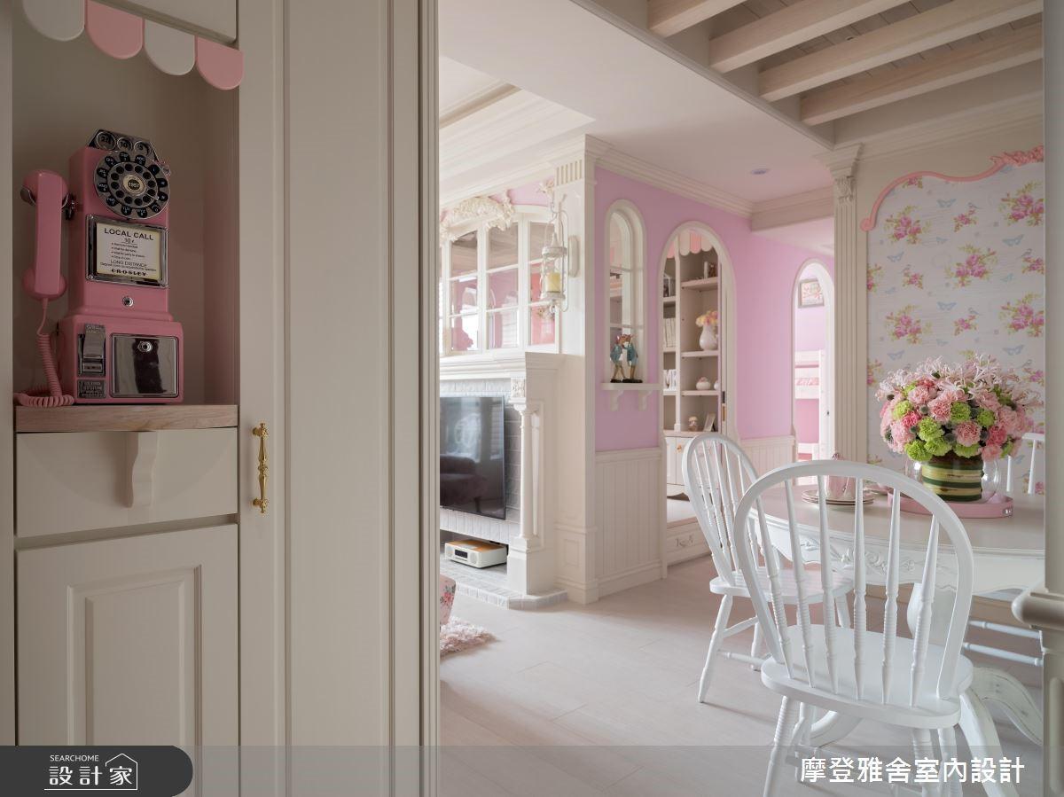 25坪新成屋(5年以下)_鄉村風玄關餐廳案例圖片_摩登雅舍室內設計_摩登雅舍_70之2