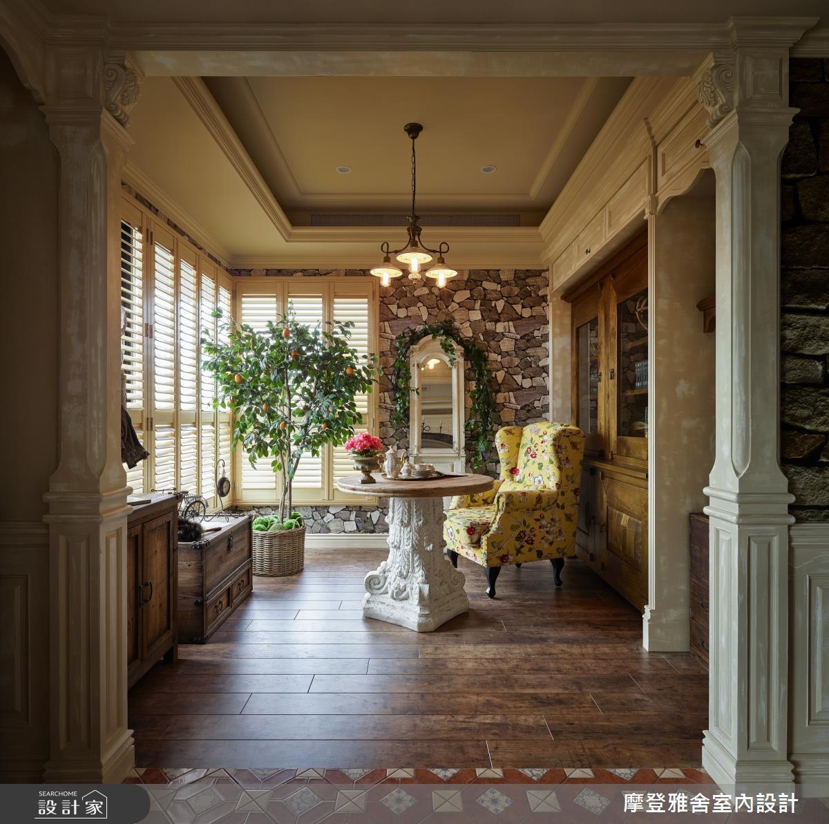 30坪新成屋(5年以下)_鄉村風客廳案例圖片_摩登雅舍室內設計_摩登雅舍_79之20