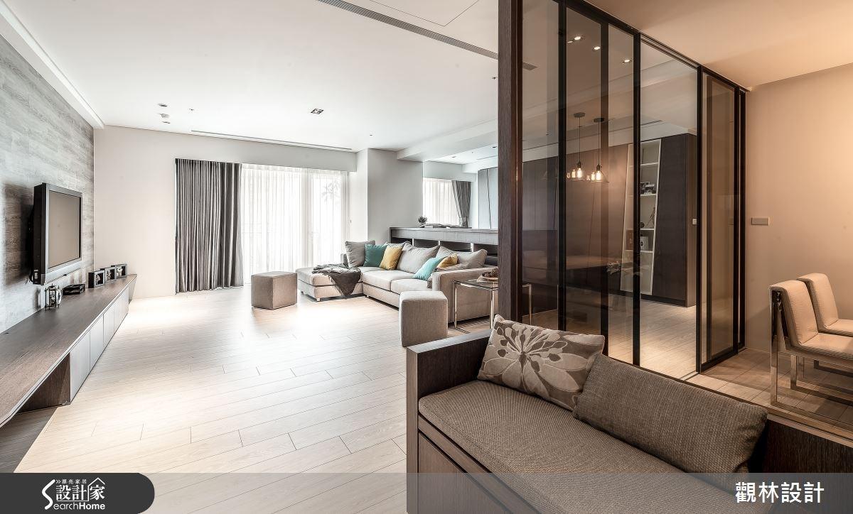 60坪新成屋(5年以下)_簡約風客廳案例圖片_觀林設計_觀林_33之3