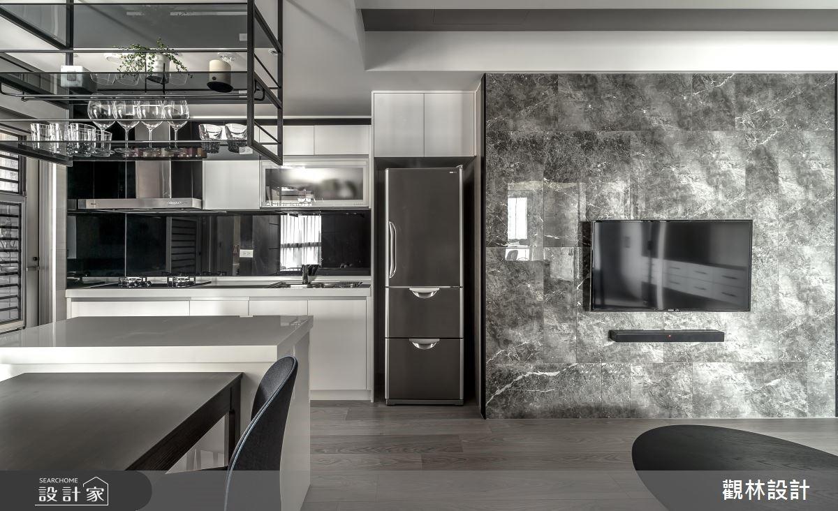 19坪新成屋(5年以下)_混搭風客廳廚房案例圖片_觀林設計_觀林_47之4