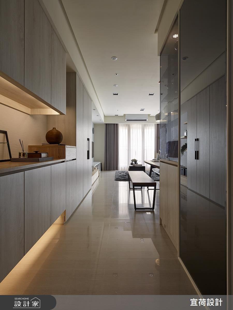 30坪新成屋(5年以下)_北歐風玄關客廳餐廳案例圖片_宜荷設計_宜荷_01之1