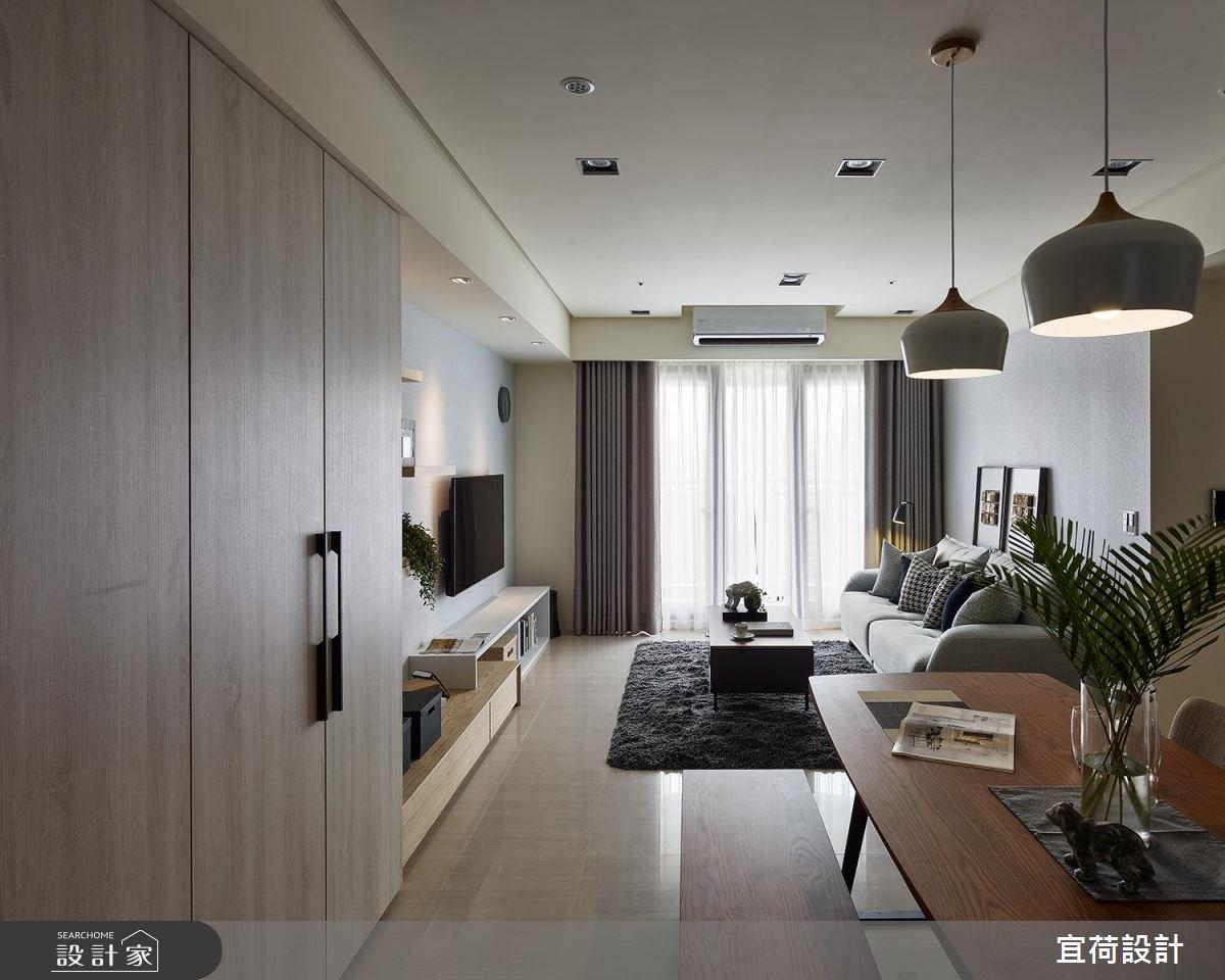 30坪新成屋(5年以下)_北歐風客廳餐廳案例圖片_宜荷設計_宜荷_01之3
