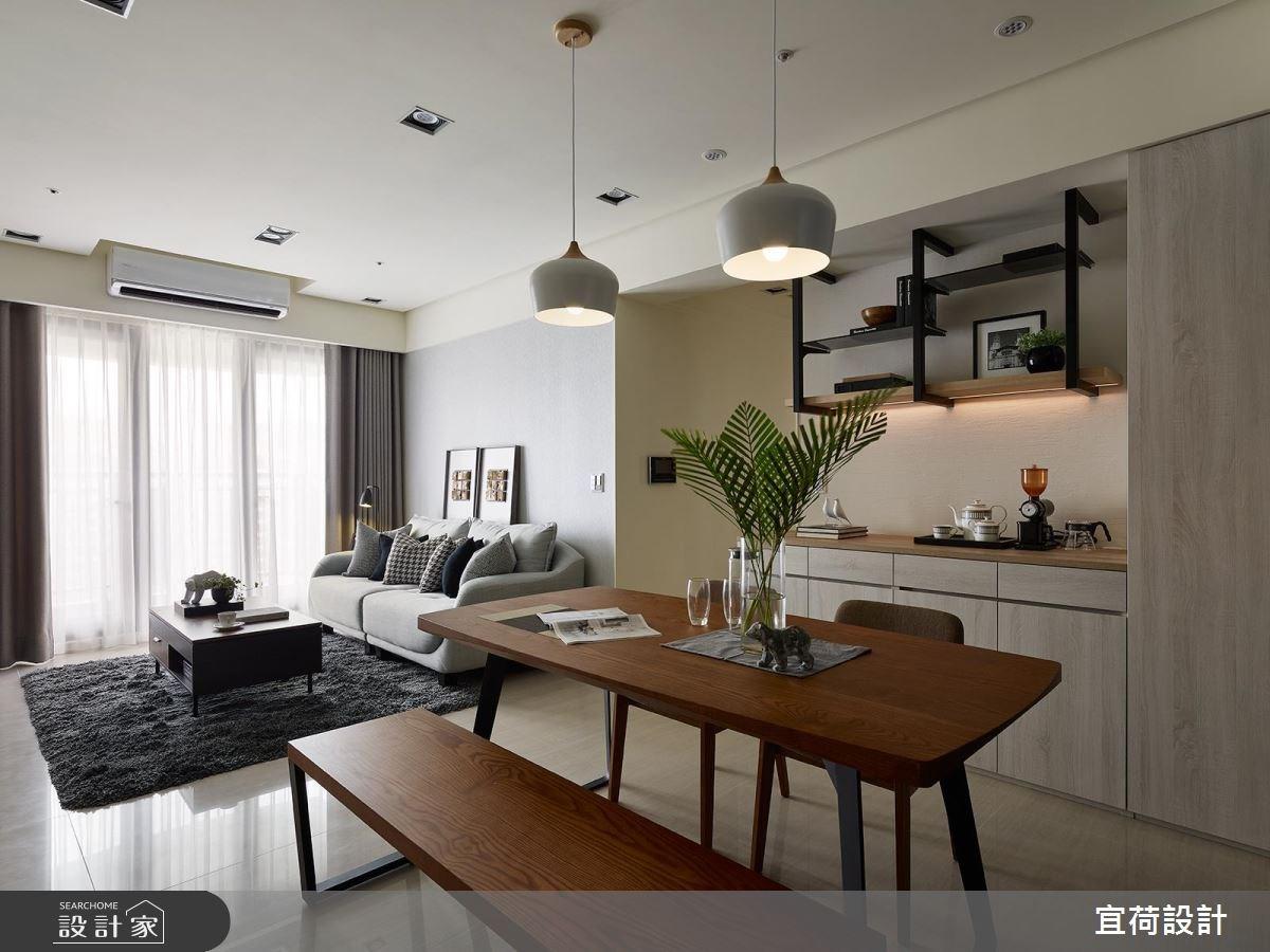 30坪新成屋(5年以下)_北歐風客廳餐廳案例圖片_宜荷設計_宜荷_01之4