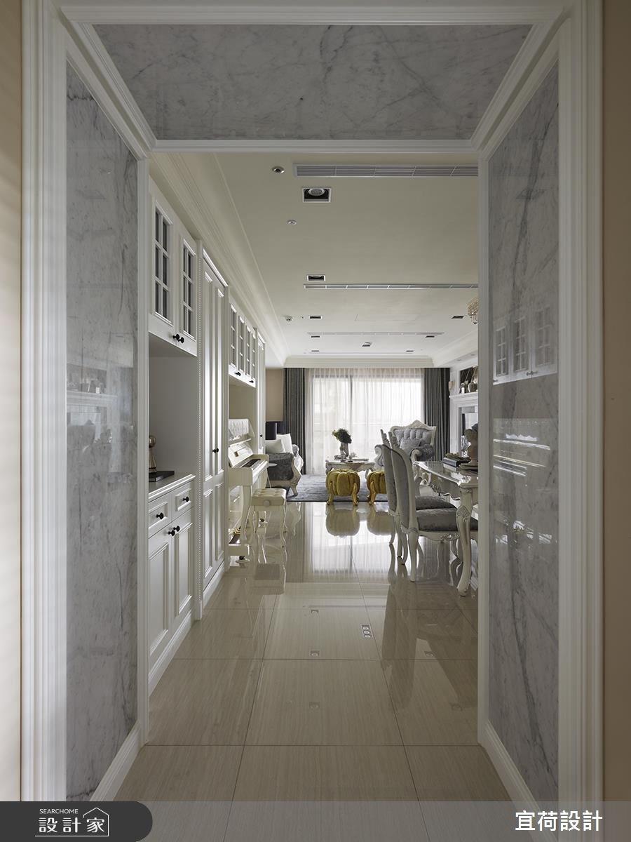 43坪新成屋(5年以下)_新古典客廳餐廳案例圖片_宜荷設計_宜荷_02之4