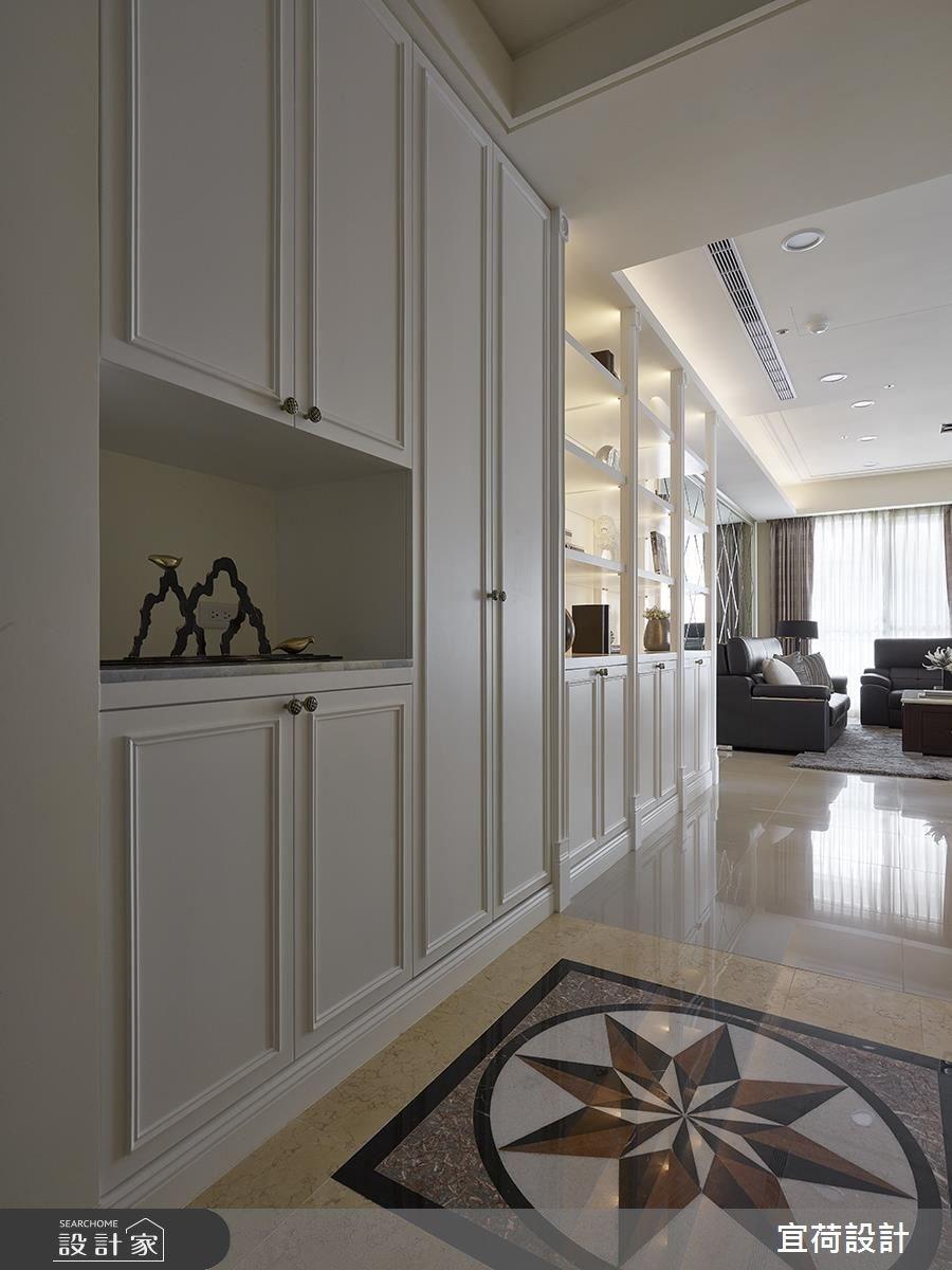 36坪新成屋(5年以下)_新古典玄關客廳案例圖片_宜荷設計_宜荷_03之2