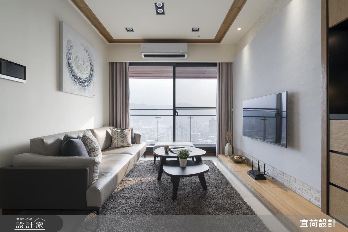 25坪新成屋(5年以下)_休閒風客廳案例圖片_宜荷設計_宜荷_06之10