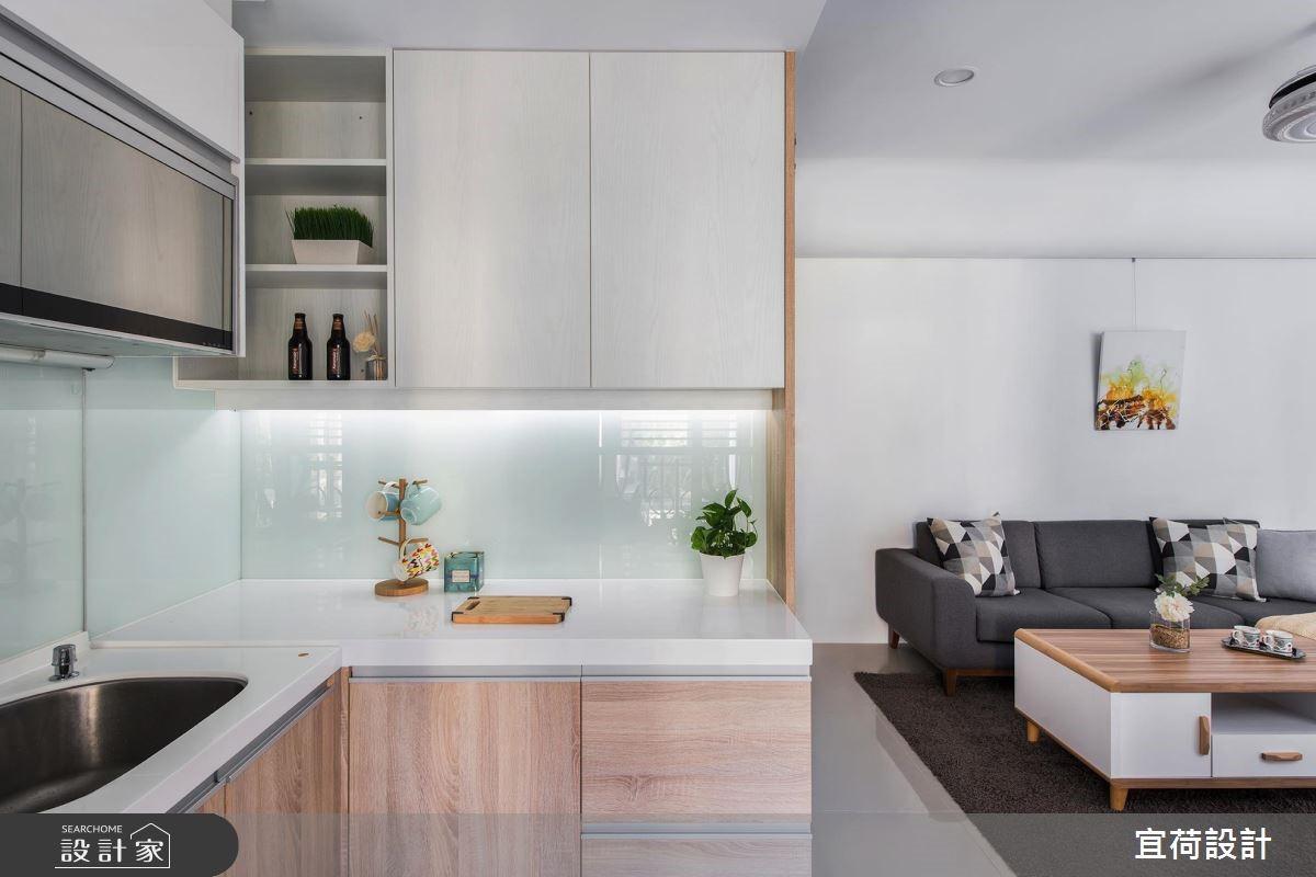 15坪新成屋(5年以下)_簡約風廚房案例圖片_宜荷設計_宜荷_07之12