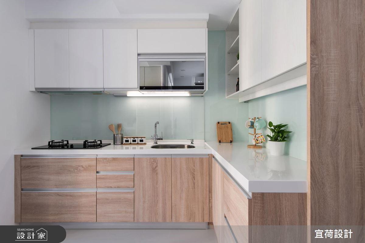 15坪新成屋(5年以下)_簡約風廚房案例圖片_宜荷設計_宜荷_07之13