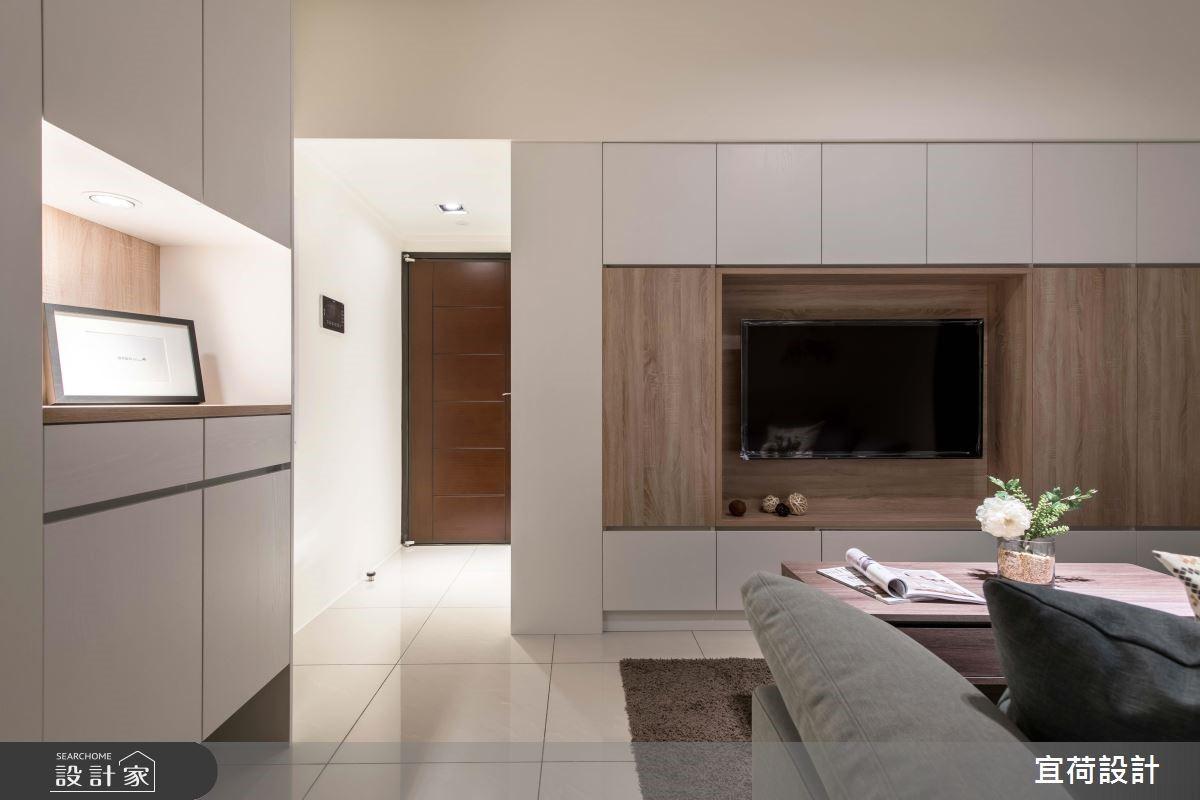 14坪新成屋(5年以下)_簡約風客廳案例圖片_宜荷設計_宜荷_08之3