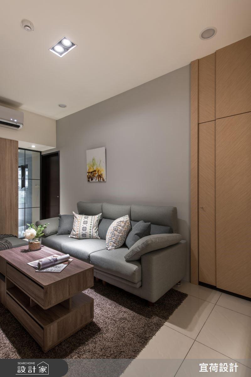 14坪新成屋(5年以下)_簡約風客廳案例圖片_宜荷設計_宜荷_08之2