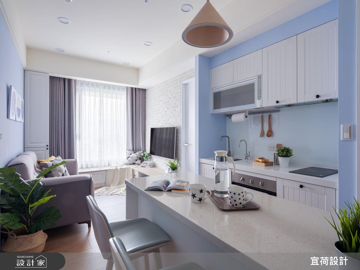 10坪新成屋(5年以下)_北歐風餐廳廚房案例圖片_宜荷設計_宜荷_15之2