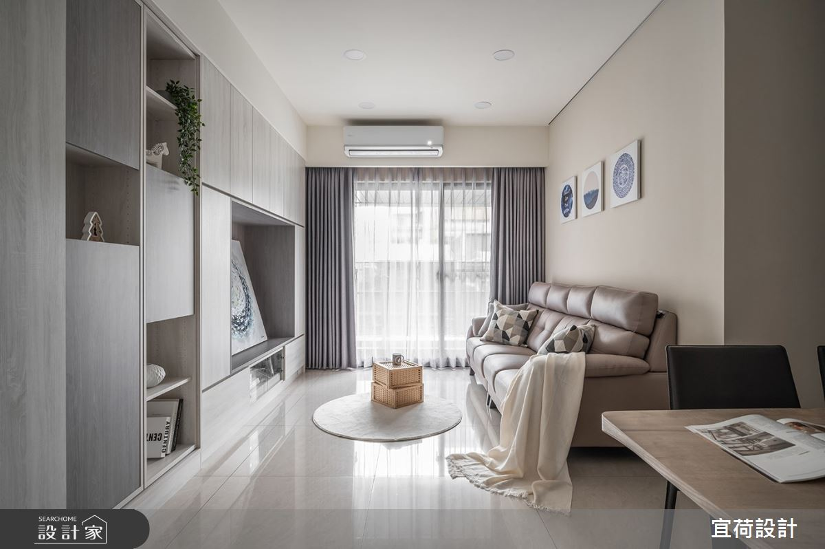 40坪新成屋(5年以下)_簡約風客廳案例圖片_宜荷設計_宜荷_22之2