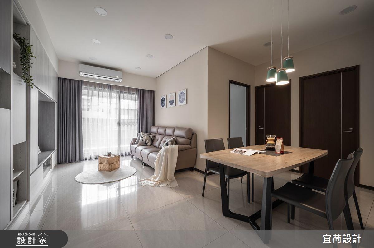 40坪新成屋(5年以下)_簡約風客廳餐廳案例圖片_宜荷設計_宜荷_22之3