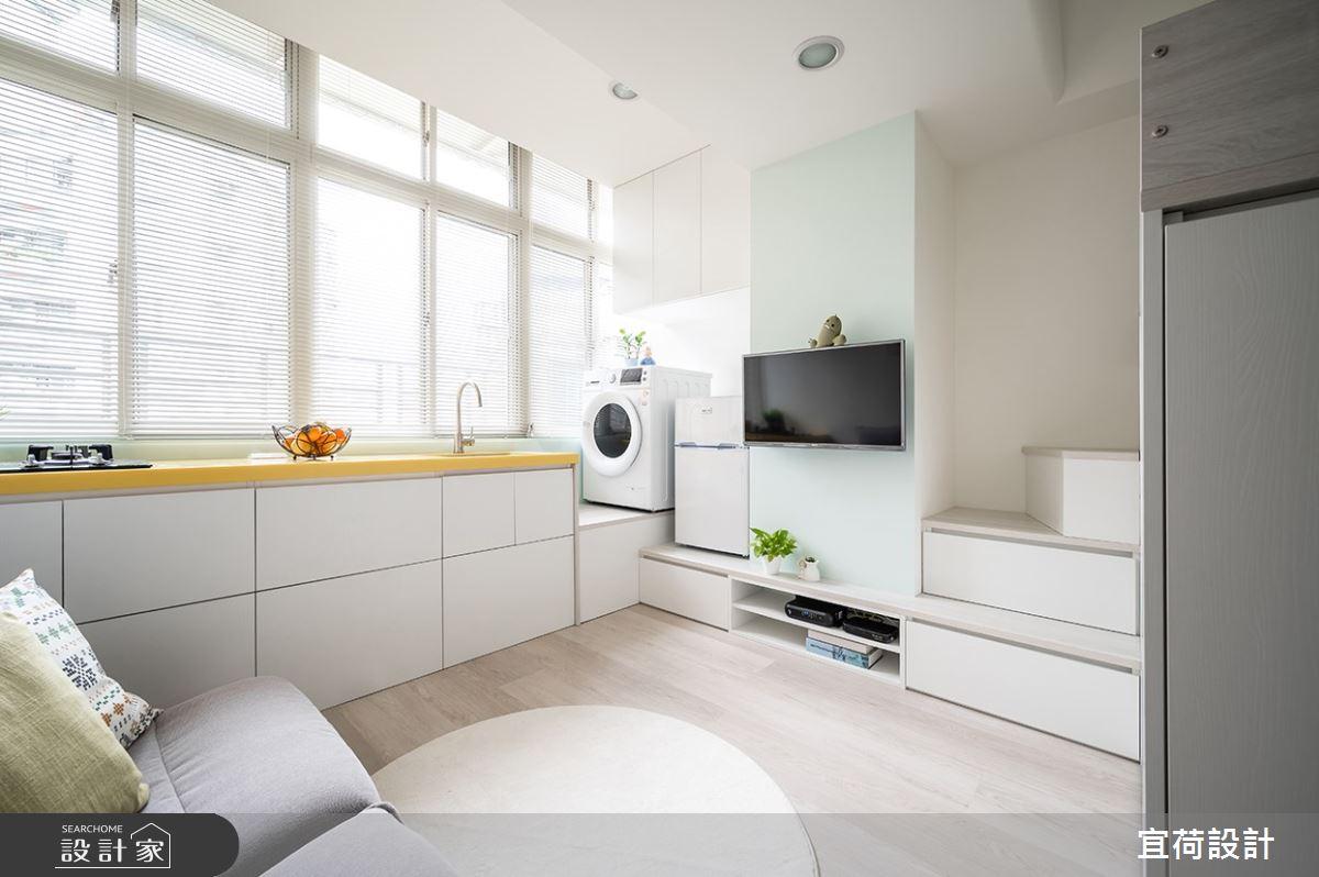 9坪老屋(16~30年)_北歐風客廳廚房樓梯多功能室案例圖片_宜荷設計_宜荷_23之4