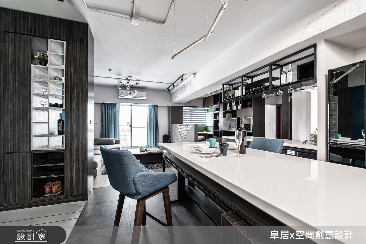 26坪老屋(16~30年)_工業風玄關客廳餐廳案例圖片_阜居空間創意設計_阜居_05之2