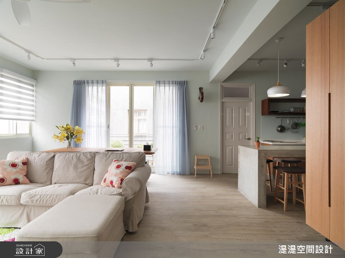42坪老屋(16~30年)_混搭風客廳餐廳廚房案例圖片_湜湜空間設計_湜湜_03之2