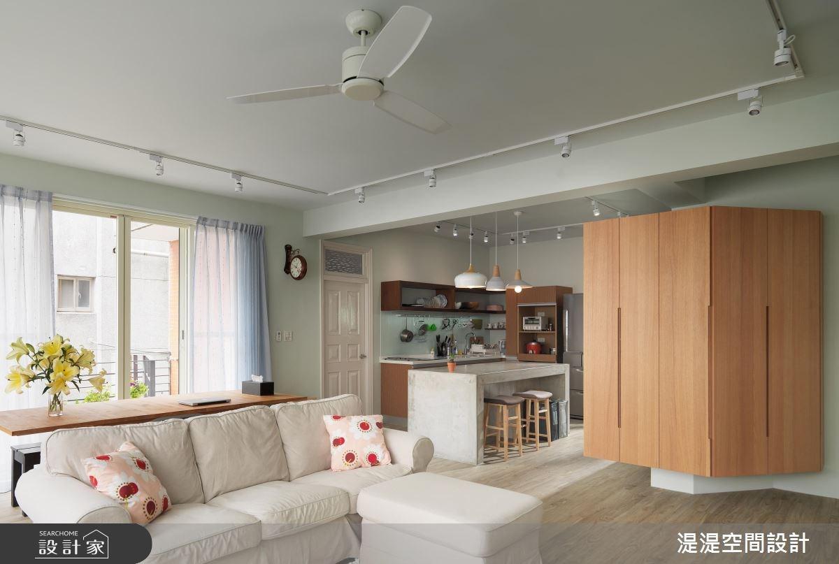 42坪老屋(16~30年)_混搭風客廳餐廳廚房案例圖片_湜湜空間設計_湜湜_03之3