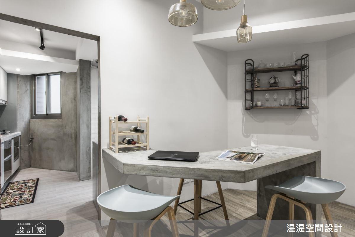 18坪老屋(16~30年)_簡約風餐廳廚房吧檯案例圖片_湜湜空間設計_湜湜_06之2