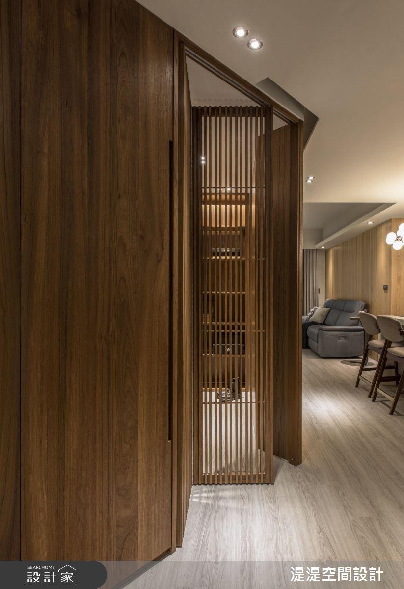 25坪新成屋(5年以下)_混搭風玄關客廳案例圖片_湜湜空間設計_湜湜_07之2