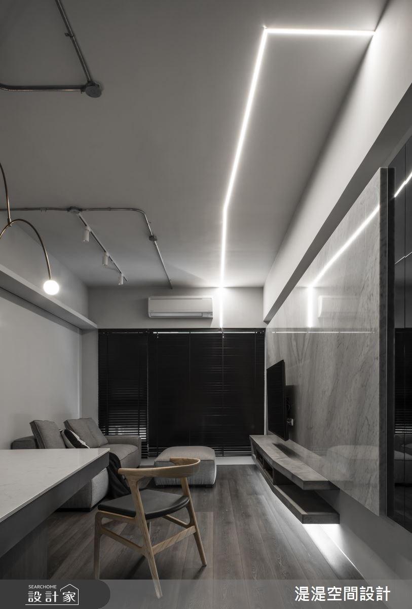 20坪新成屋(5年以下)_混搭風客廳餐廳案例圖片_湜湜空間設計_湜湜_08之2