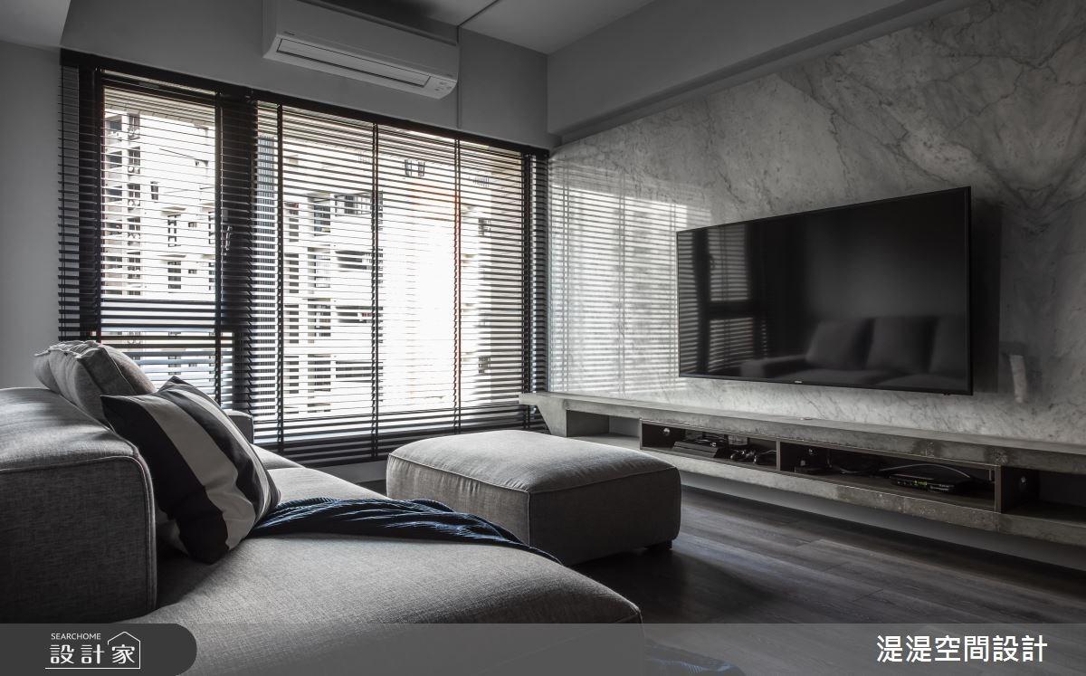 20坪新成屋(5年以下)_混搭風客廳案例圖片_湜湜空間設計_湜湜_08之3