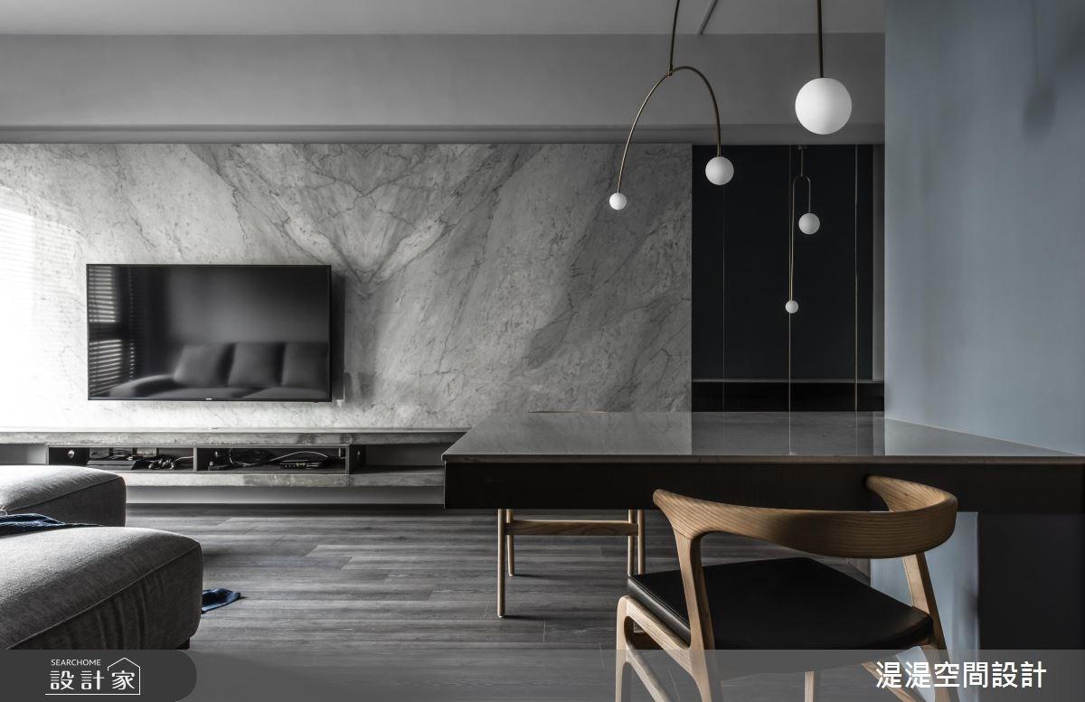20坪新成屋(5年以下)_混搭風客廳餐廳案例圖片_湜湜空間設計_湜湜_08之4