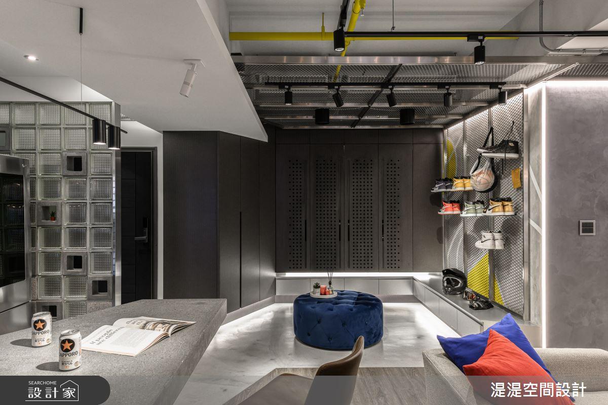 28坪新成屋(5年以下)_混搭風玄關案例圖片_湜湜空間設計_湜湜_18之2