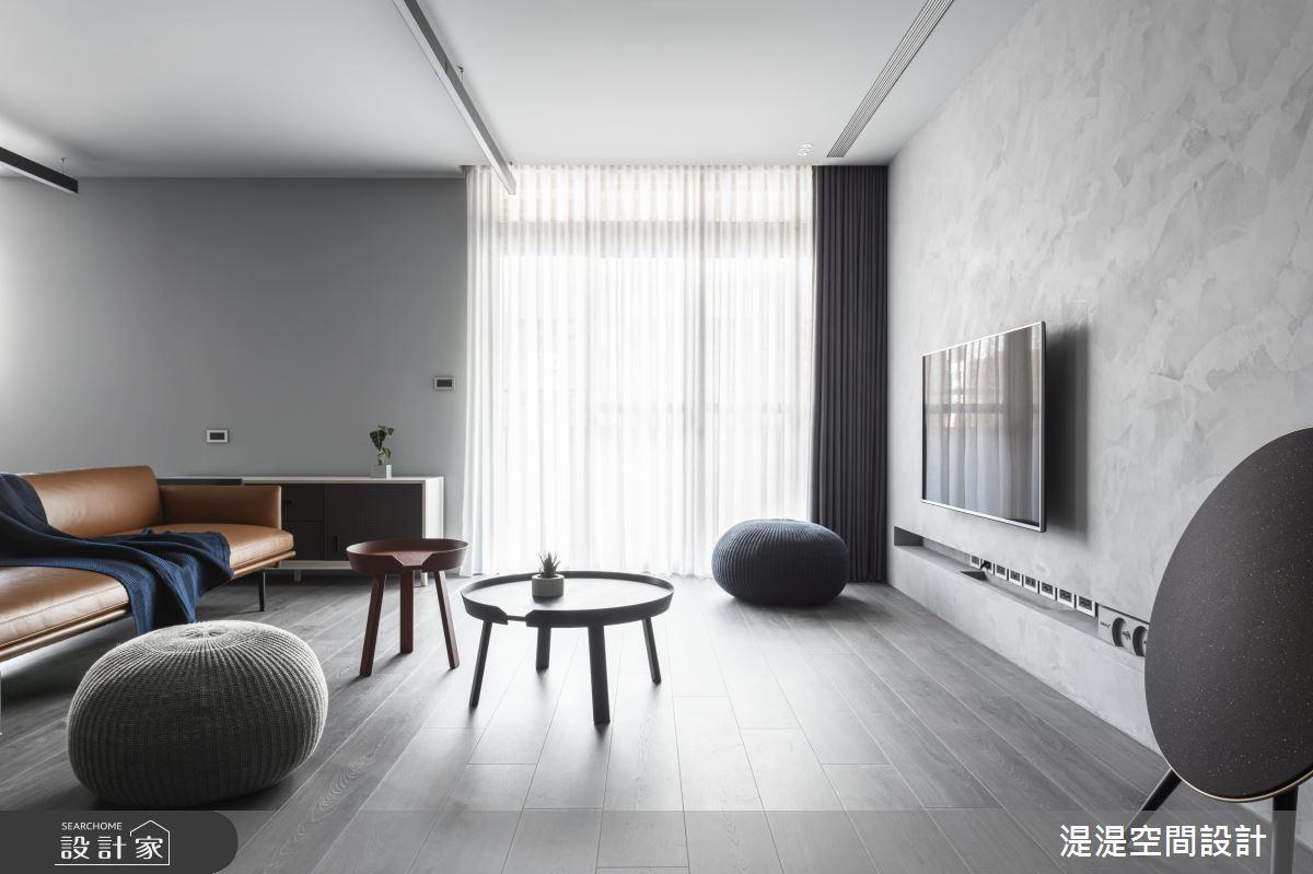 32坪中古屋(5~15年)_簡約風客廳案例圖片_湜湜空間設計_湜湜_21之1